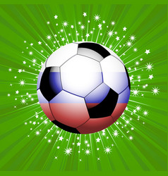 Football soccer ball in red blue and white on vector