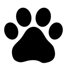 Footprint dog vector