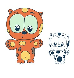 Funny cartoon leopard vector image