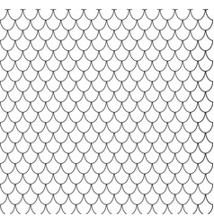 geometric fish scales chinese seamless pattern vector image