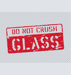 Grunge glass pictogram on transparent background vector