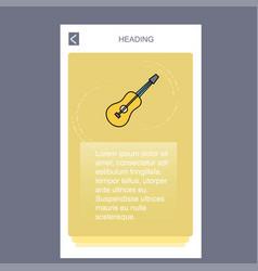 guitar mobile vertical banner design design vector image
