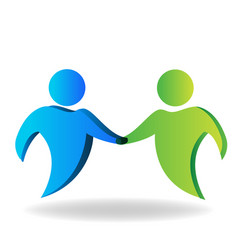 Handshake partners business friends vector