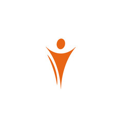 isolated abstract orange color human body in vector image