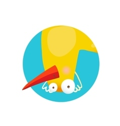 Kids Duck Upside Down Funny Icon vector image