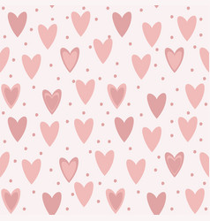 Lovely hearts seamless pattern vector