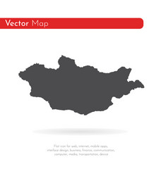 map mongolia isolated black vector image