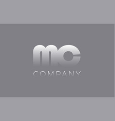 Mc m c pastel blue letter combination logo icon vector