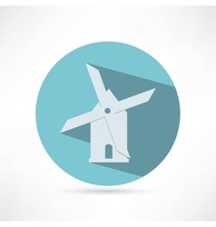 Mill icon isolated on white background vector