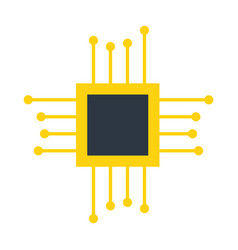Motherboard circuit technology vector