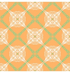 Orange floral pattern with renaissance motifs vector