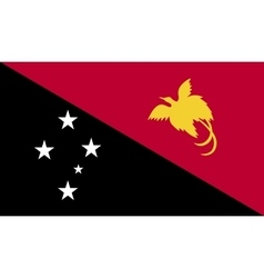 Papua New Guinea flag image vector