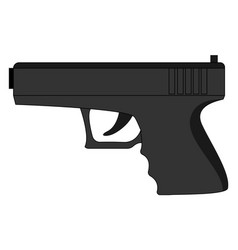 Pistol glock on white background vector