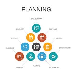 Planning infographic 10 steps conceptcalendar vector