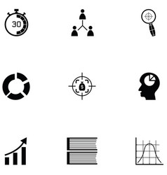 Project management icon set vector
