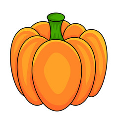 pumpkin symbol icon design beautiful isolated on vector image