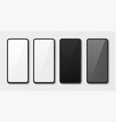 Realistic smartphone mock up set mobile phone vector