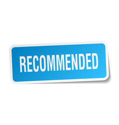 Recommended square sticker on white vector