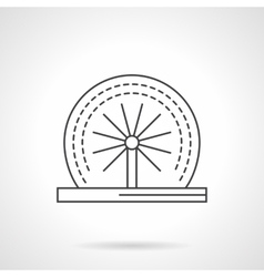 Rotating fountain flat line icon vector