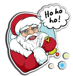 santa sticker vector image