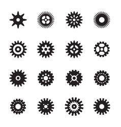 Set of black gears vector