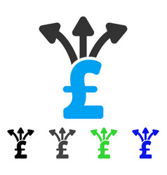 Share pound flat icon vector