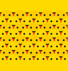 smiley seamless pattern smiley shows the language vector image