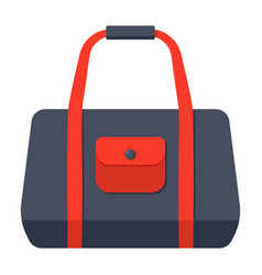 Sport bag icon vector