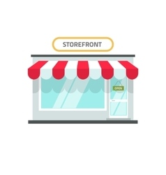 Store isolated shop front vector