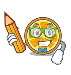 student orange character cartoon style vector image
