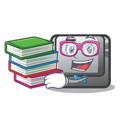 Student with book button f on a keyboard cartoon vector