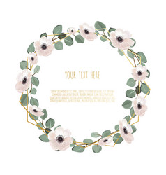 stylish floral design round frame vector image