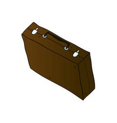 Suitcase isolated minimal single flat icon vector