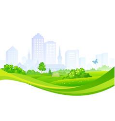 Summer city park design vector
