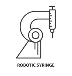 syringe for robotic surgery vector image