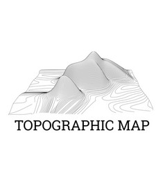 Topographical map of the locality vector