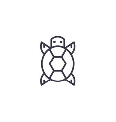 turtle front view line icon sign vector image