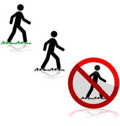 Walking on grass vector image