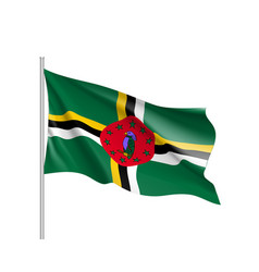 Waving flag dominica vector