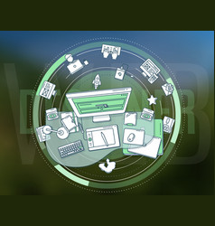 web designer profession detailed vector image