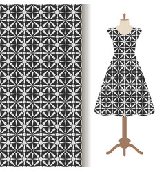 women dress fabric pattern design vector image