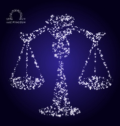 Zodiac sign of libra made of stars vector