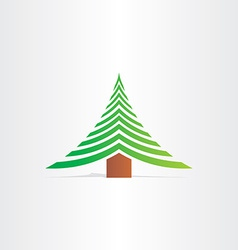 christmas tree new year abstract icon vector image