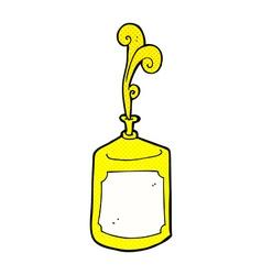 comic cartoon squirting mustard bottle vector image