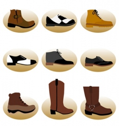 fashion man shoes vector image
