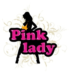 pink lady vector image vector image