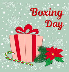 boxing day sale of a square banner or card a gift vector image