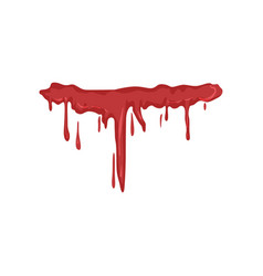 Dripping blood on a white vector