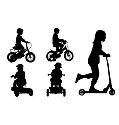 kids on bikes vector image vector image