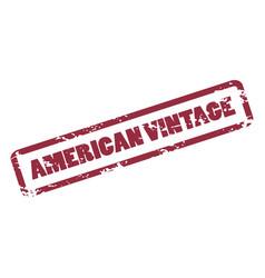 american vintage inscription in deep red frame vector image